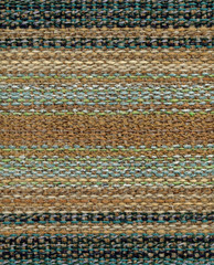 Close up detail of handwoven striped fabric