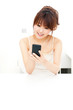 beautiful asian woman using smart phone