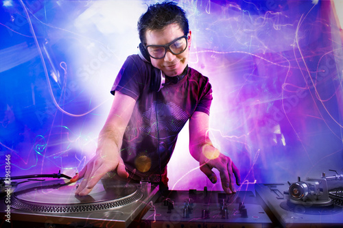 Dj playing at the concert