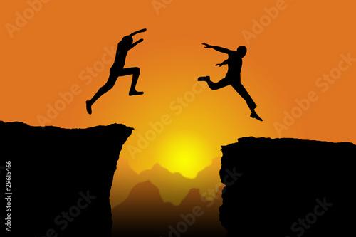 springende Männer