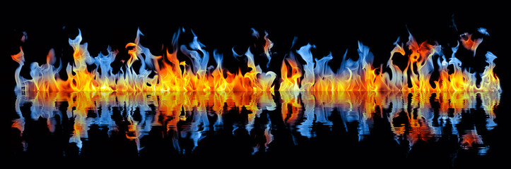 Wide fire reflection