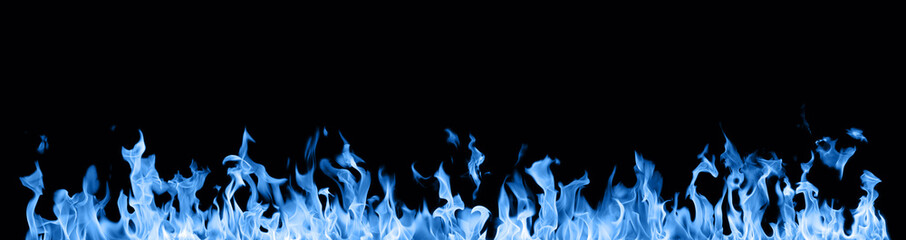 wide blue fire