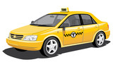 Vector isolated taxi, without gradients
