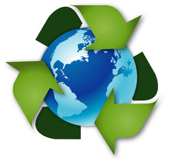 Weltkugel Recycling Umweltschutz