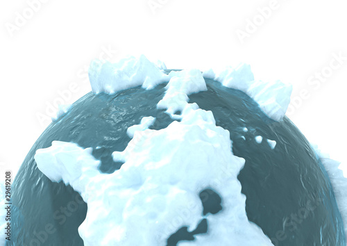 3d computer generated image of a frozen planet - 29619208