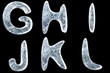 3d image of icy font collection