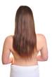 junge Frau mit sehr langem Haar