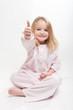 Happy child in her pajamas
