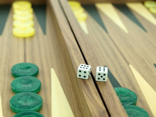 Backgammon set with dice
