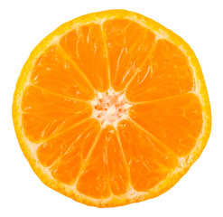 Slice of ripe tangerine