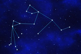 "Starfield background of zodiacal symbol ""Aquarius"""