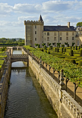 Valencay castle, canal and garden