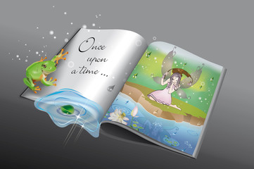 Once upon a time-libro di favole con rana