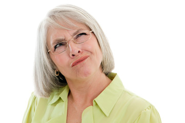 Mature woman confused