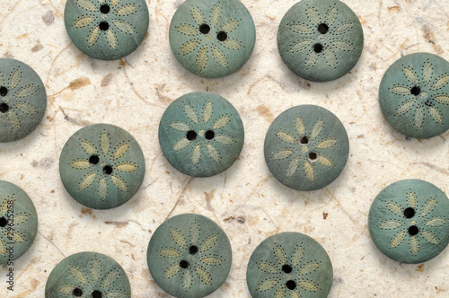 Green Wooden Buttons