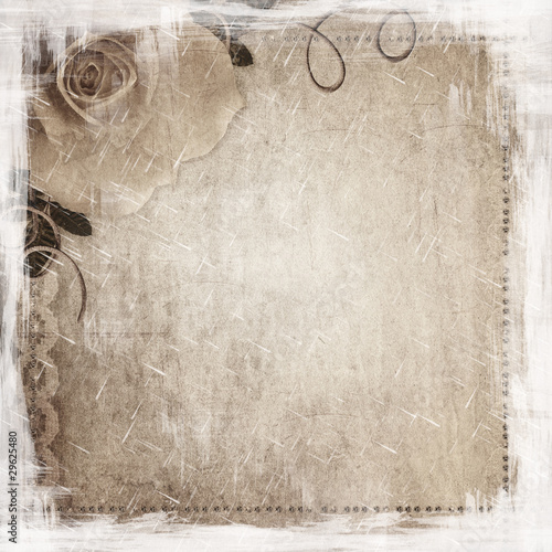 Grunge background with rose © o_april