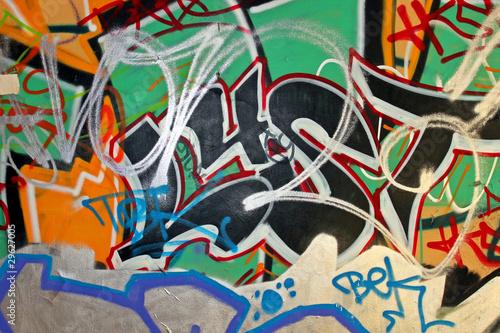 Foto op Canvas Praag Graffiti