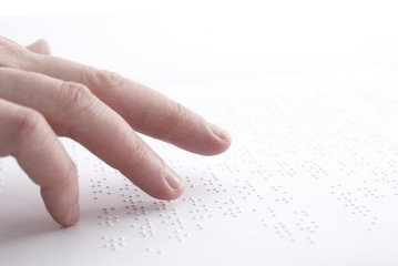Reading  braille in swedish