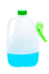 Windshield washer fluid isolated on white background