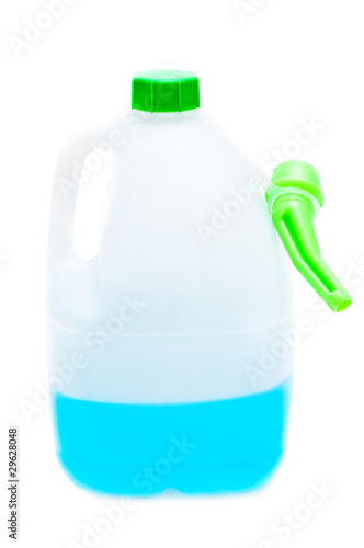 Windshield washer fluid isolated on white background