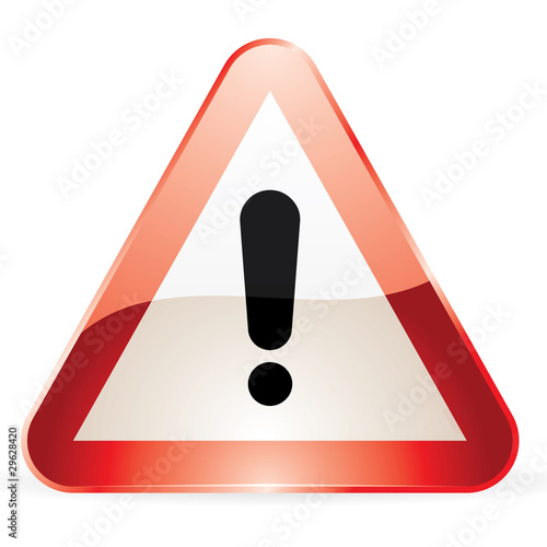 """Panneau de signalisation """"Attention"""""""