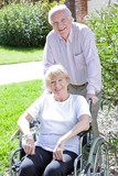 Elder couple in the retirement house poster