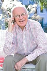 Mature man on a phone