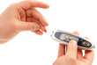 Measuring glucose blood level using glucometer