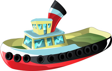 Cartoon Tug Boat