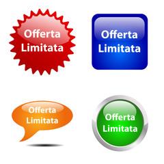 Bottone Offerta limitata # Vettoriale