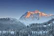 Mount Shuksan winter sunset