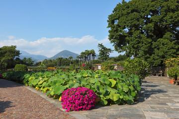 A  park  on Lake Maggiore
