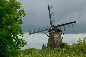 Wind mill and clouds