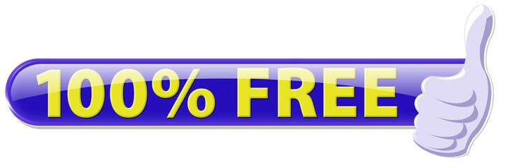 button 100% free daumen hoch ok
