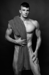 Model with a towel