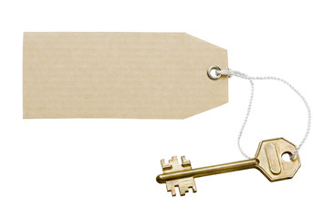 Key with a labe