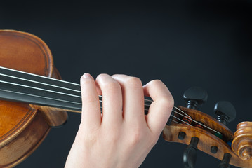 fingers on the violin