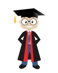 boy  graduate vector