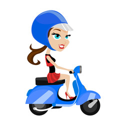 girl riding motorcycle