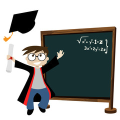 graduate in classroom
