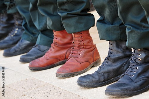 Army Boots Stand Out in a Crowd