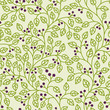 seamless pattern with a green leaves ornament