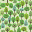 seamless pattern with a green forest