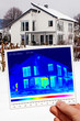 thermal imaging of a good isolated one-family house