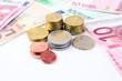 Geld Steuerneurowährungkon