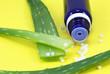 Flasche, Aloe und Globuli