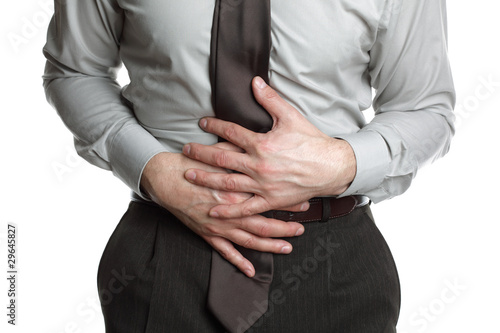 Businessman with stomach ache