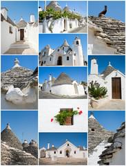 Trulli Alberobello Collage.