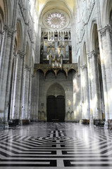 Amiens gothic cathedral labyrinth