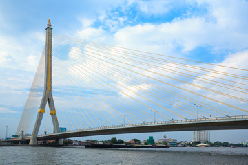 Mega bridge in Bangkok,Thailand (Rama 8 Bridge)